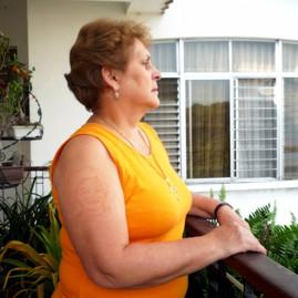 Autorretrato sobre dermografismo de mi madre