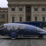 A futuristic-looking 1938 Dymaxion, designed by American inventor Buckminster Fuller