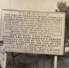 They didn't mince words on this anti-smoking sign in Illinois from 1915
