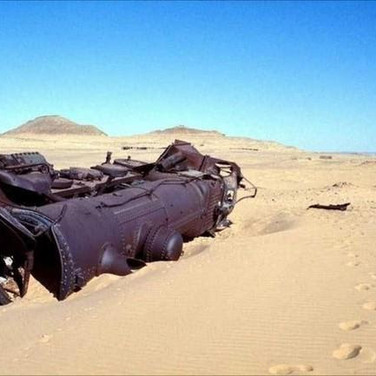 An Ottoman supply train still lays where it was ambushed by Lawrence of Arabia on the Hejaz railway during World War I.