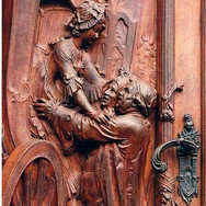18th century carved door in Germany with incredible workmanship