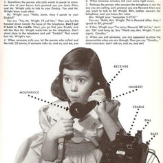 How to use a phone 1955