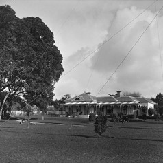 The Mon Desir Hotel and grounds in Hurstmere Road 1925