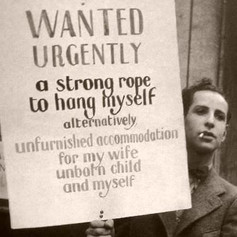 Unknown man during the Great Depression. (1932)