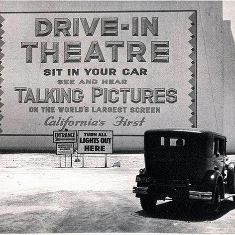 The first drive-in theater in the state of California opened in Los Angeles, 1935