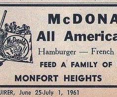 McDonald's advertisement from 1961