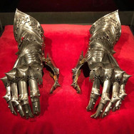 Holy Roman Emperor Maximillian I wore these armored gloves from 1508 until his death in 1519. (Now we know where Star Wars got some of their designs)