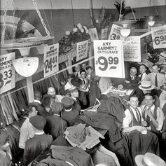 Sale on men's suits in 1920