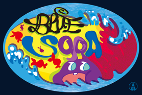 Blue Sora sticker design