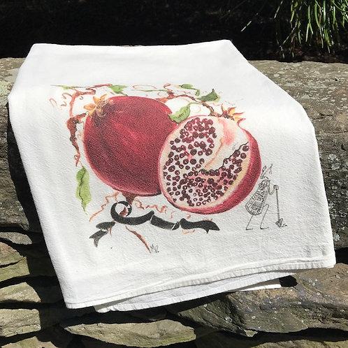 """Pomegranate Tea Towel  28"""" x 29"""""""