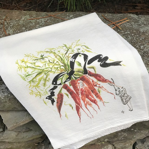 "Carrot Tea Towel 28"" x 29"""