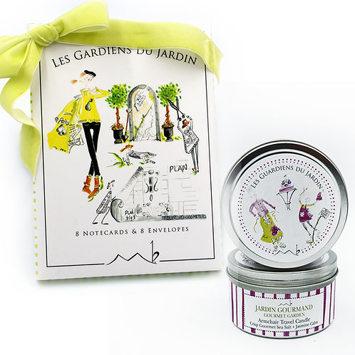 GIFT SET: Notecards + Armchair Travel Candle ©