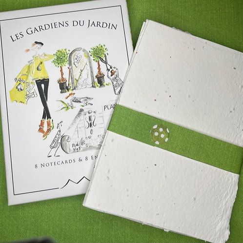 4 WildFlower Seed-Sheets +Boxed Garden Notecards