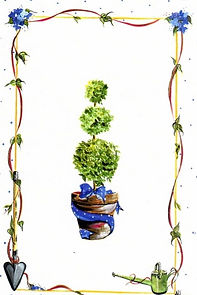 Topiary Invitation drawing