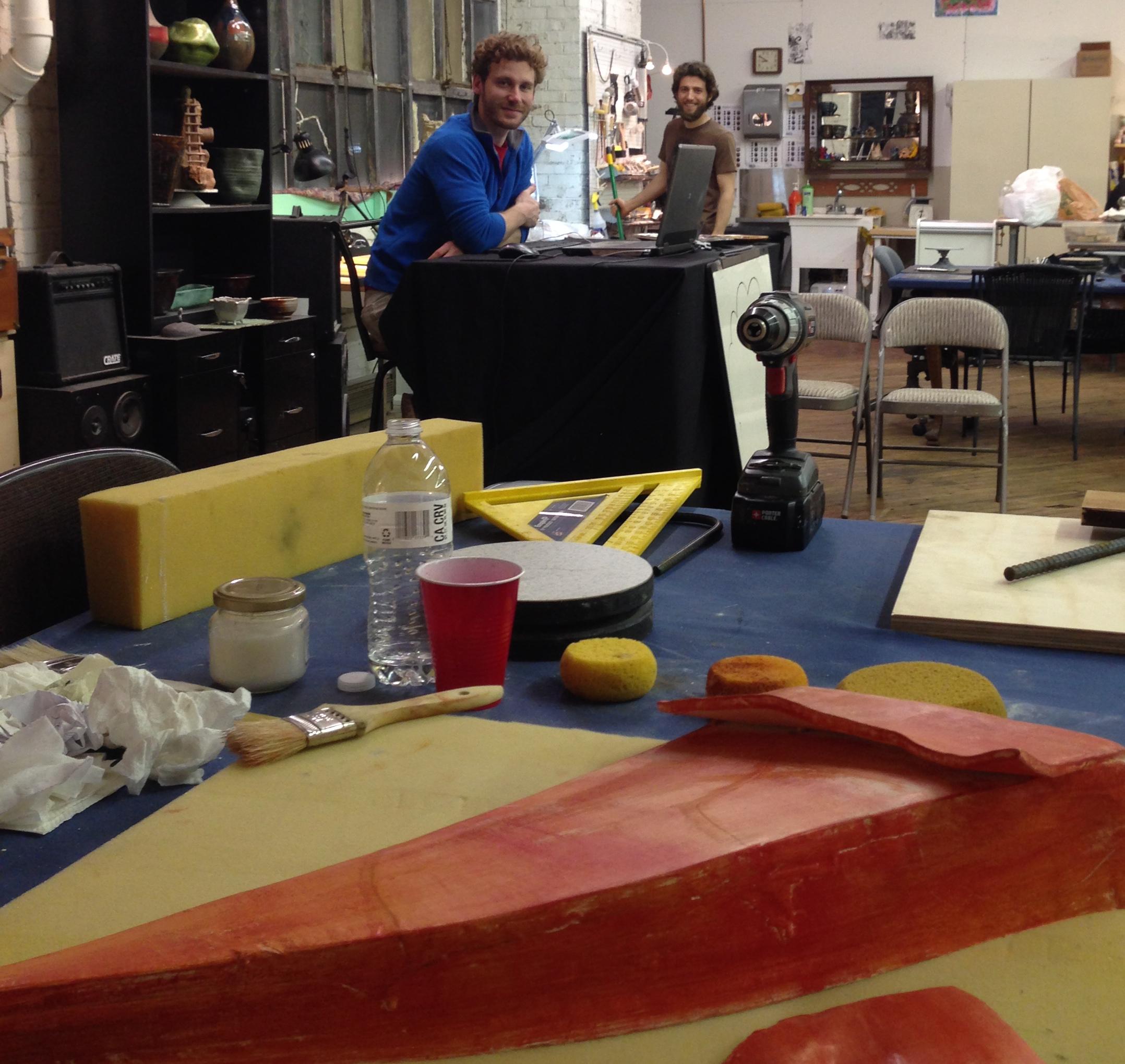 Building Poppy Flanders sculpture