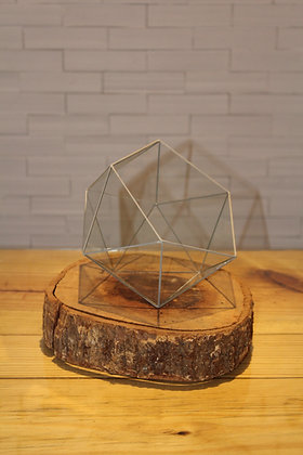Cachepot de Vidro Icosaedro