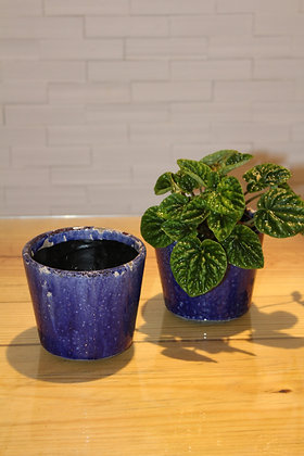 Cachepot Cerâmica Azul