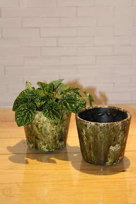 Cachepot Cerâmica Verde