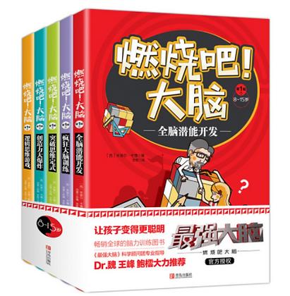 《燃烧吧大脑逻辑思维游戏》由[最强大脑]官方打造的 8-15岁小学生专注力记忆力逻辑思维训练书籍(共5册)