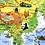 Thumbnail: 少儿趣味益智卡通版地图 - 地理趣味知识(中国1张+世界1张)
