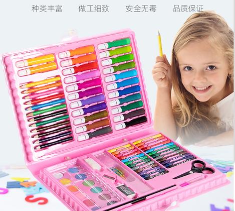 儿童美术绘画学习水彩笔画笔套装(86件套)