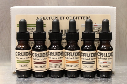 Crude Bitters & Sodas - Sampler Set