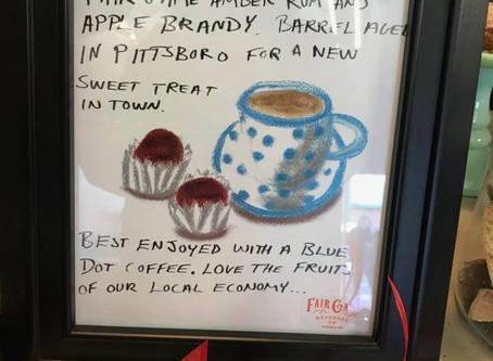 Fair Game Chocolates at Blue Dot Coffee