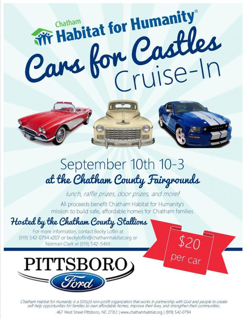 Cars for Castles Flyer 2016