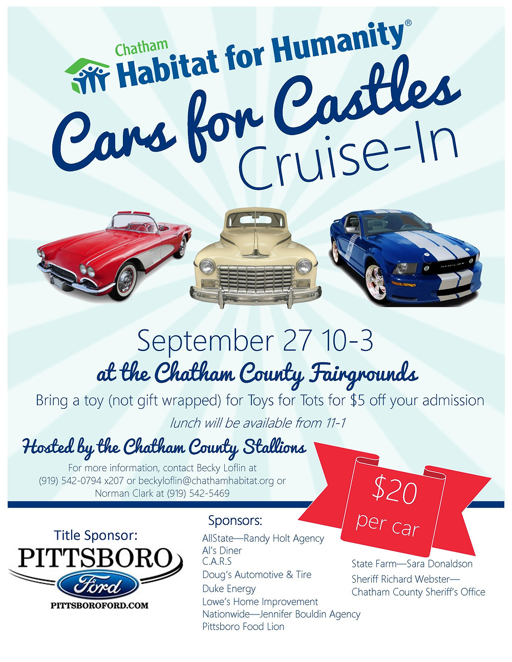 Cars for Castles Flyer (Working)
