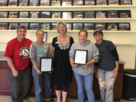 Pittsboro Mayor Cindy Perry Honors CHFH Americorps Volunteers