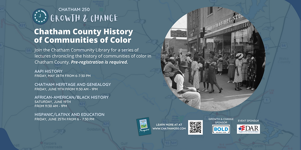 Chatham County History of Communities of Color