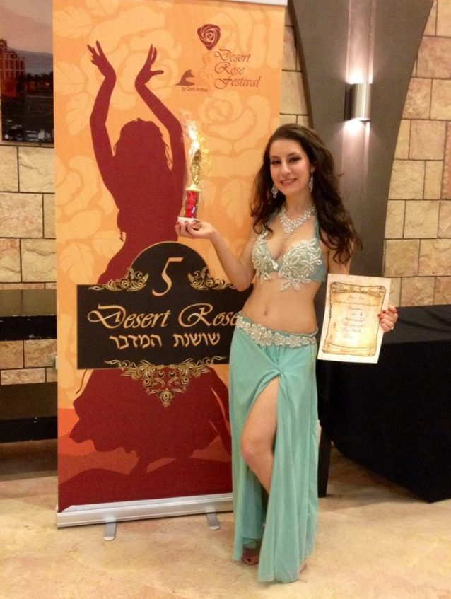 1st Place in Desert Rose Belly Dance