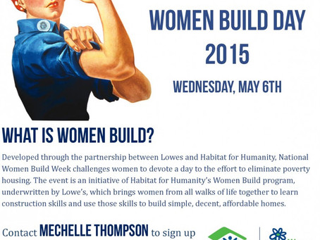 Women Build 2015: Wednesday, May 6th