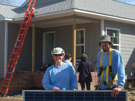 GridFree! NC Donates First Solar Array to Chatham Habitat