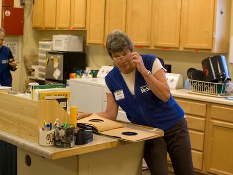 """ReStore Volunteer Spotlight: """"Bad"""" Carol Ferguson (and Millie!)"""
