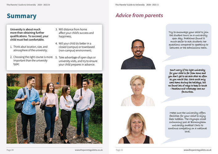 The Parents' Guide to University 202111.