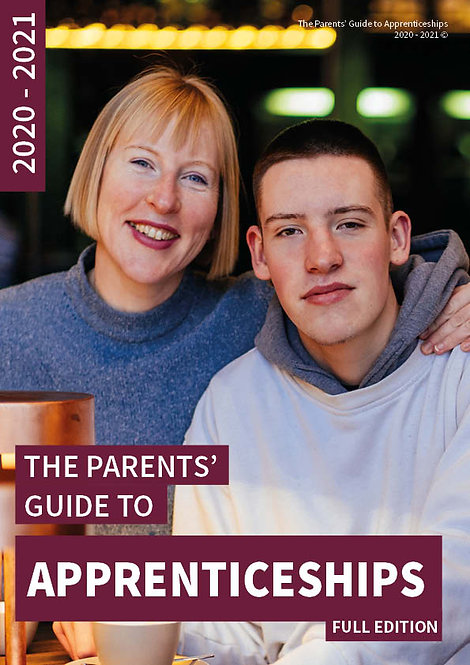 The Parents' Guide to Apprenticeships front cover All apprenticeship options focusing on choices after 18 years old