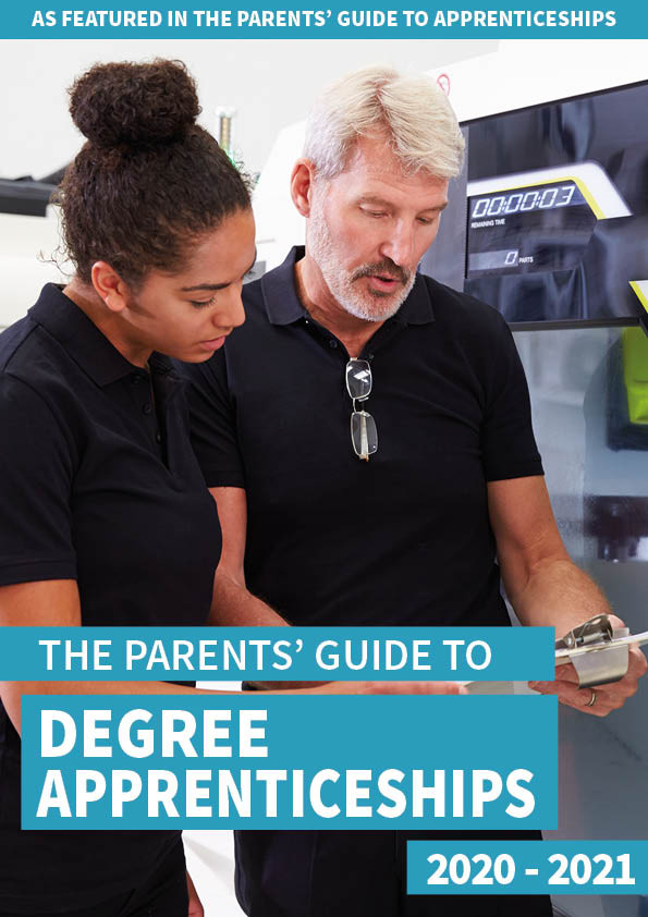 The Parents' Guide to degree apprenticeships front cover
