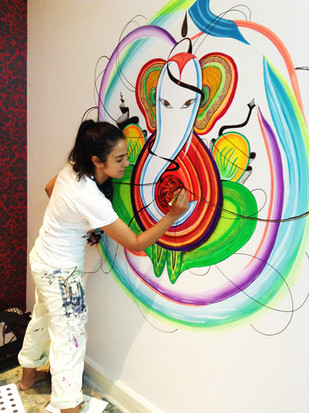 Private home mural commission, Bangkok, Thailand