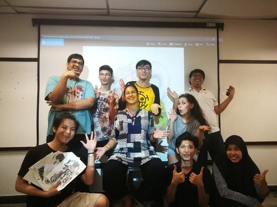 Design 1 & Color Theory 1 at Bangkok University International, Computer Graphics and Multimedia Bachelor Programme