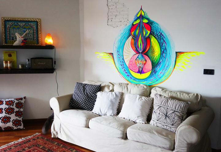 Mural for Sufi Space, Bangkok, Thailand