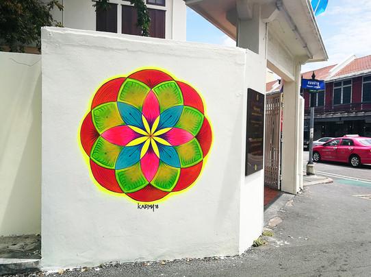 Mural for Pipit Banglamphu Museum, Bangkok, Thailand