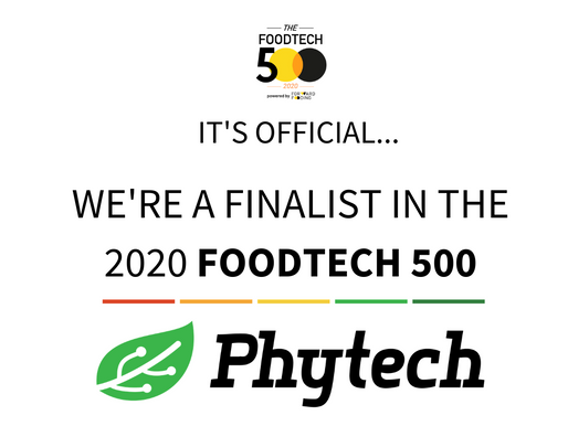 We're a finalist in the Foodtech 500 list