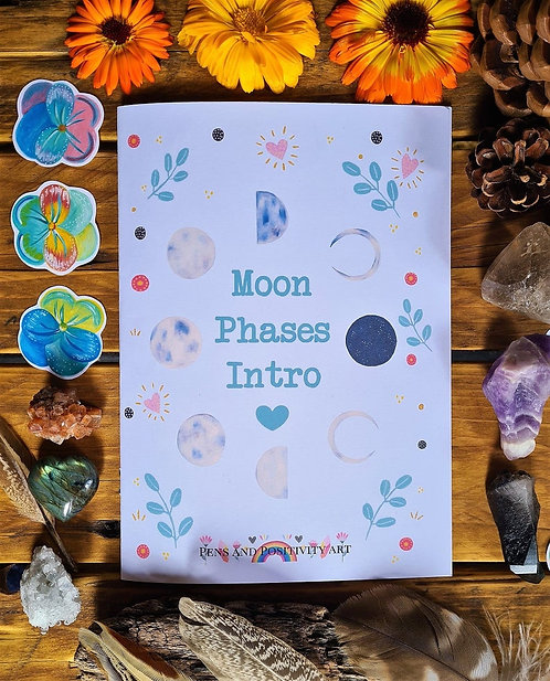 100% recycled Moon Phases booklet - Lunar Cycle Rituals - Nature Zine - Eco Frie