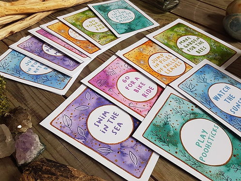 30 days in nature cards - Nature activity cards - Family activity - Self care