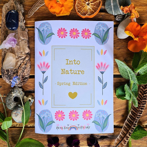 100% recycled Spring nature booklet - Spring Equinox - Nature Zine - Eco Friendl