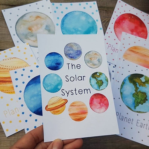 Solar System cards - illustrated learning resources - planets educational tool
