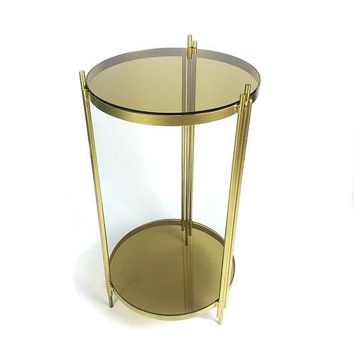Gold circular side table