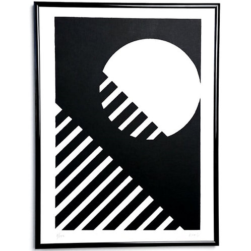 Black and white graphic wall art