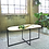 Plywood coffee table with black steel legs lifestyle shot